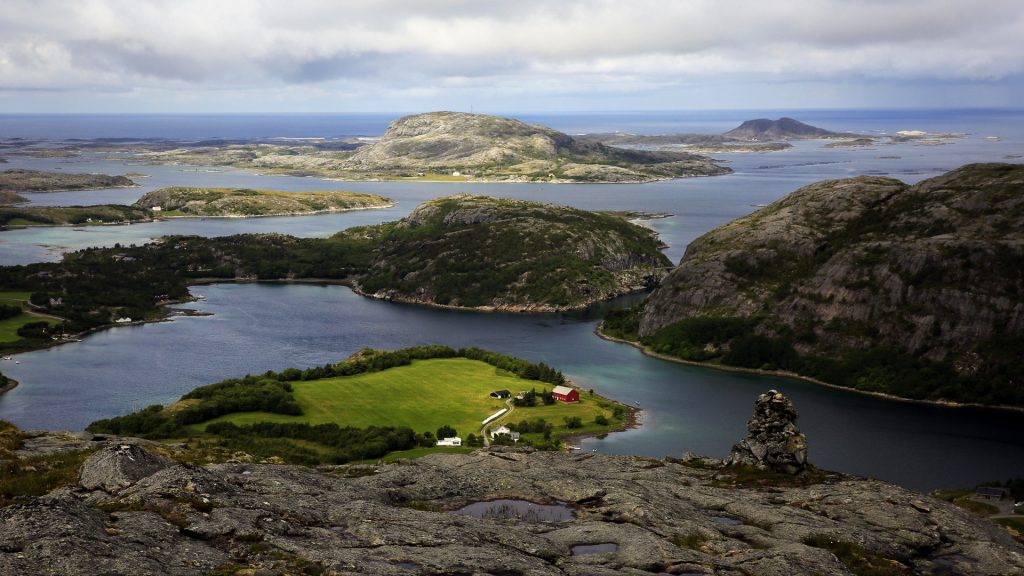 View across the islands of Flatanger, Nord-Trøndelag, Norway
