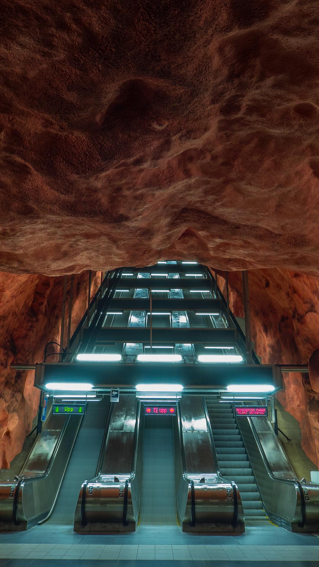r229dhuset tunnelbana subway metro station escalator