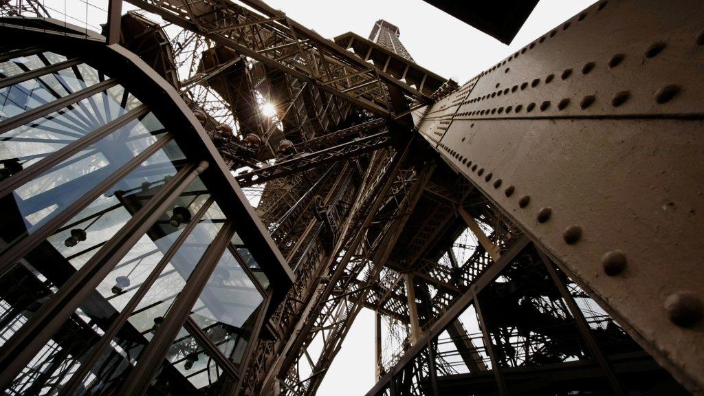 Inside Eiffel Tower, Champ de Mars, Paris, France