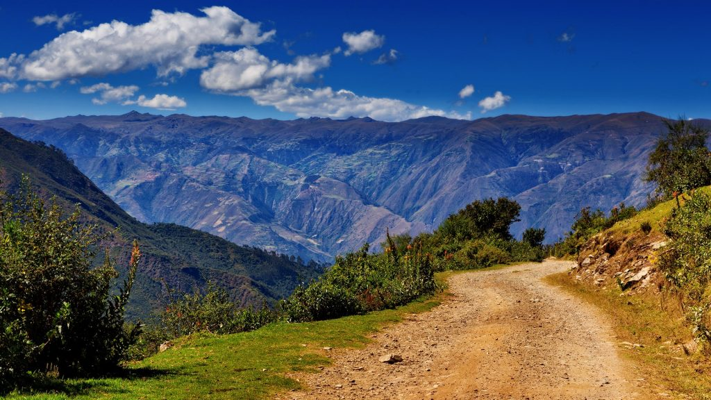 The beginning of multi-day Salkantay (Salcantay) Trek to Machu Picchu, Cusco region, Peru