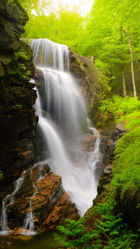 Avalanche Falls At Flume Gorge Franconia Notch State Park