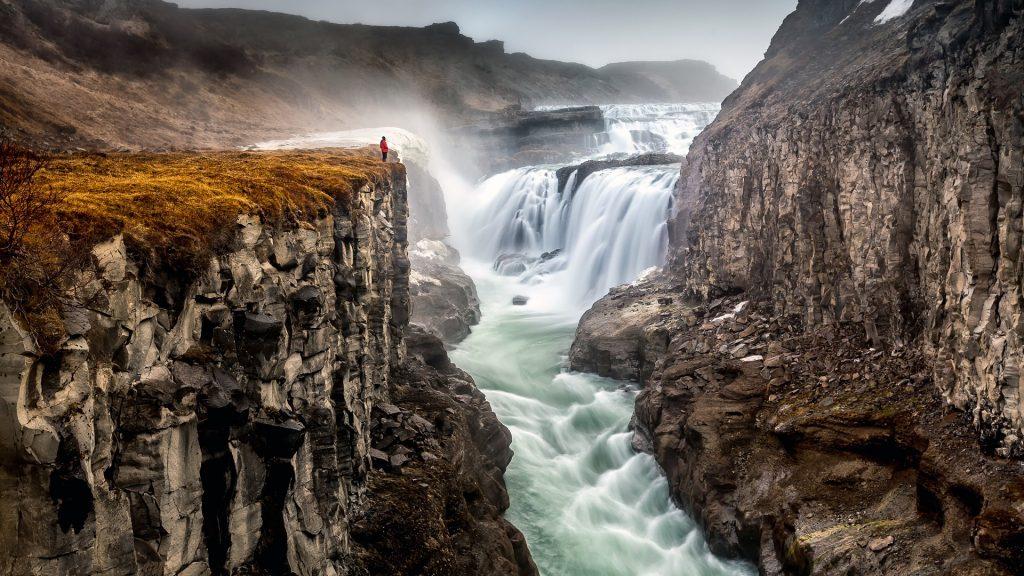 The Golden Foss, Gullfoss waterfall in Iceland