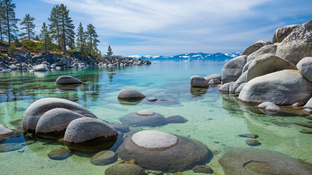 Sand Harbor beach at Lake Tahoe, Nevada, USA
