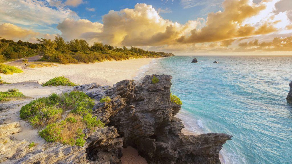Warwick Long Bay at dawn, South Shore Park, Warwick Parish, Bermuda