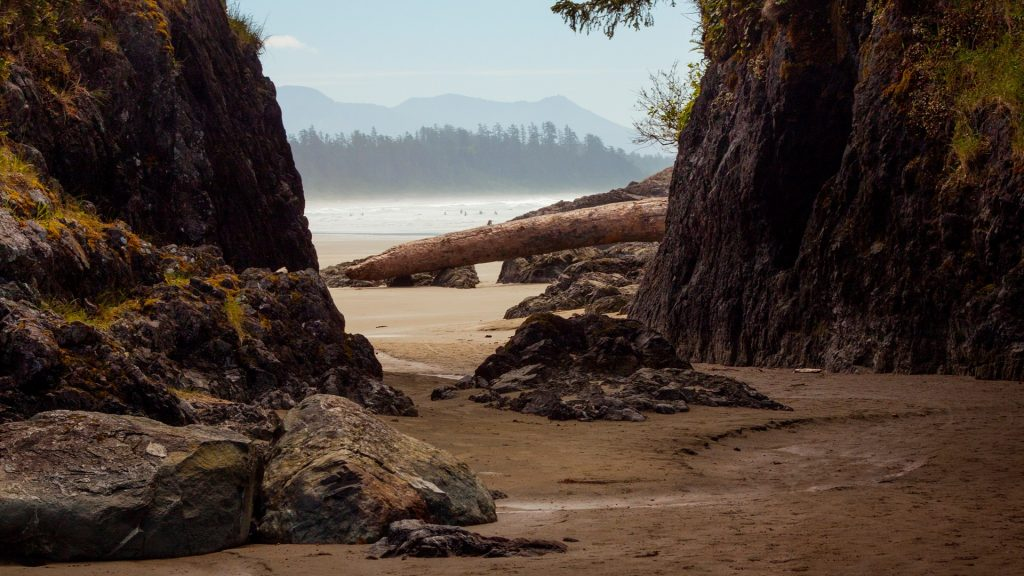 Beach view at Tofino, Vancouver Island, British Columbia, Canada