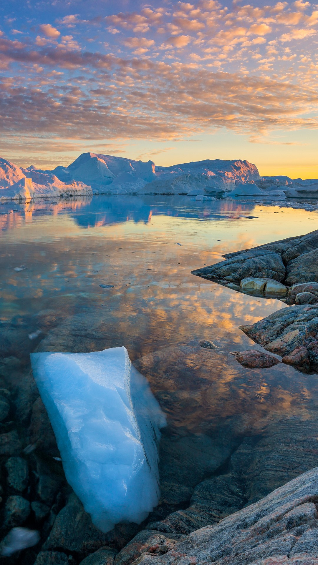 Clouds Over Ilulissat Icefjord At Scenic Dusk Greenland