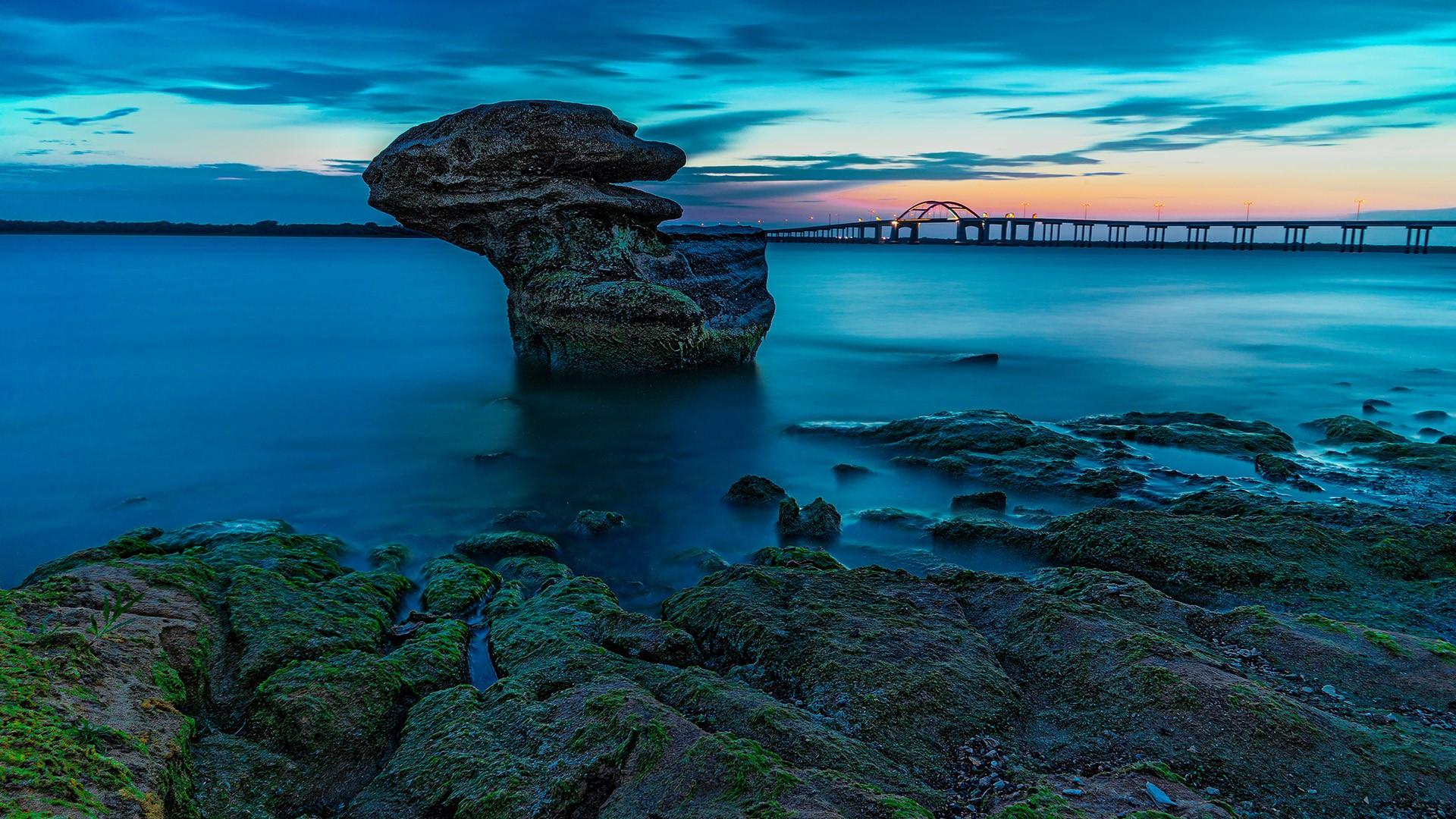 Rock Bridge To Island