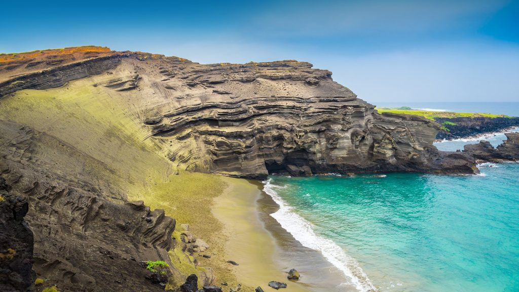 Papakōlea Green Sand Beach, Big Island, Hawaii, USA