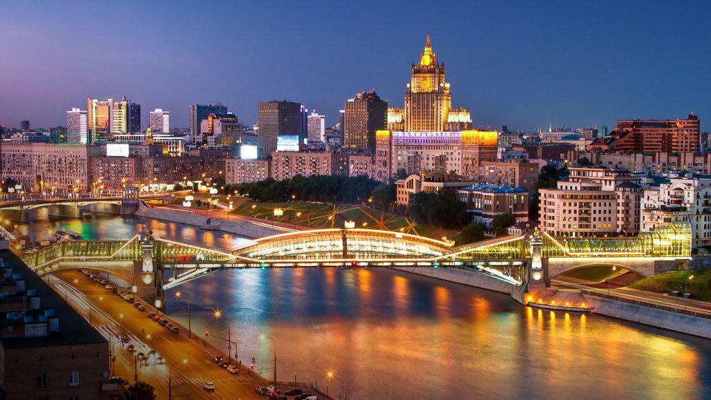 Bogdan Khmelnitsky (Kievsky) Pedestrian Bridge, Moscow, Russia