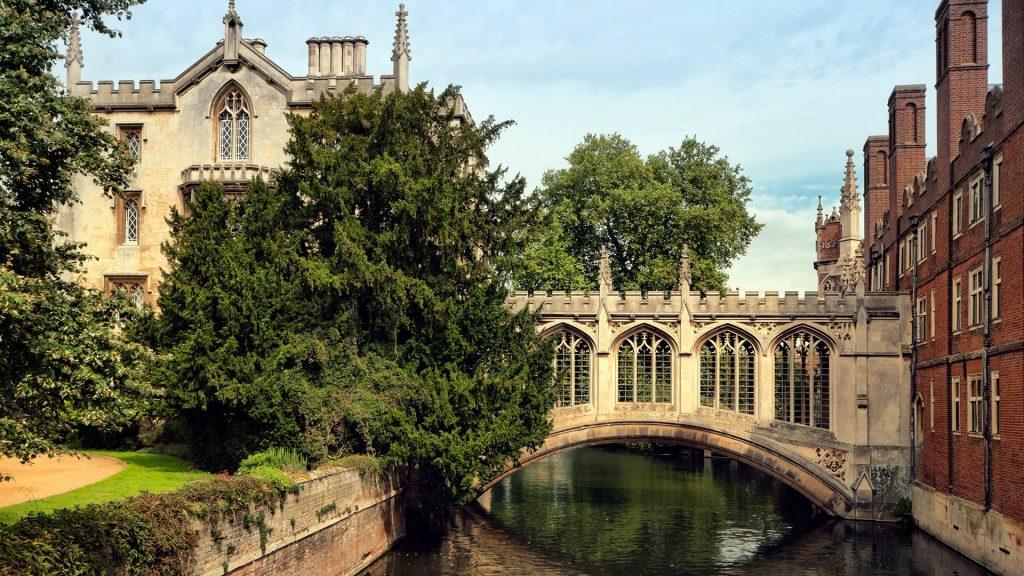 Bridge of Sighs at Saint John's College, Cambridge University, England, UK