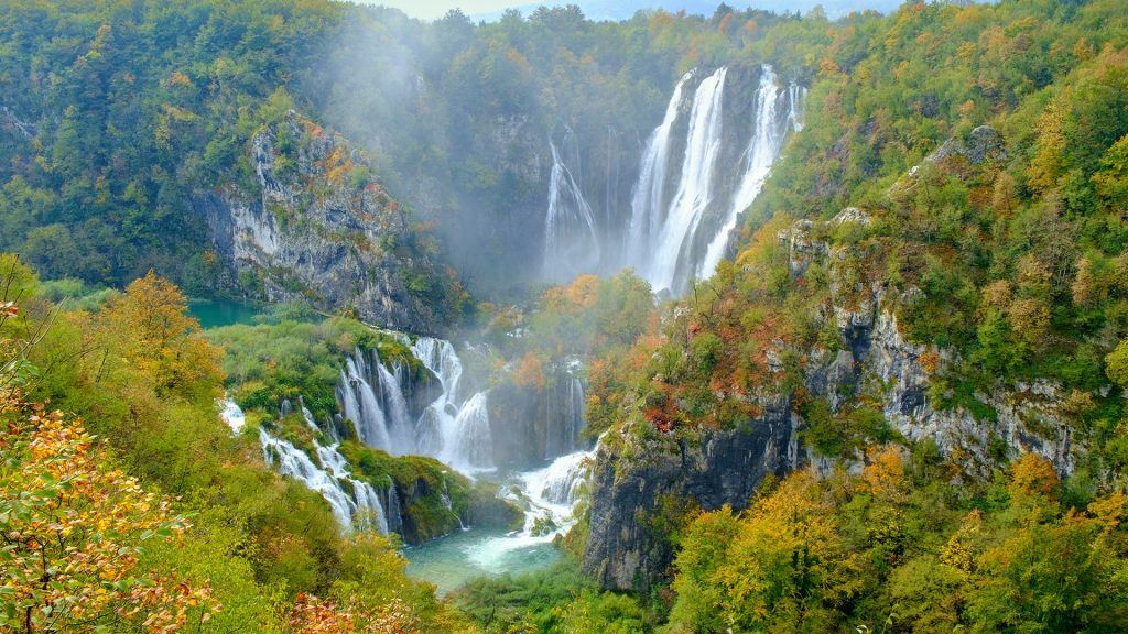 Greatest waterfalls in Plitvice Lakes National Park, Croatia