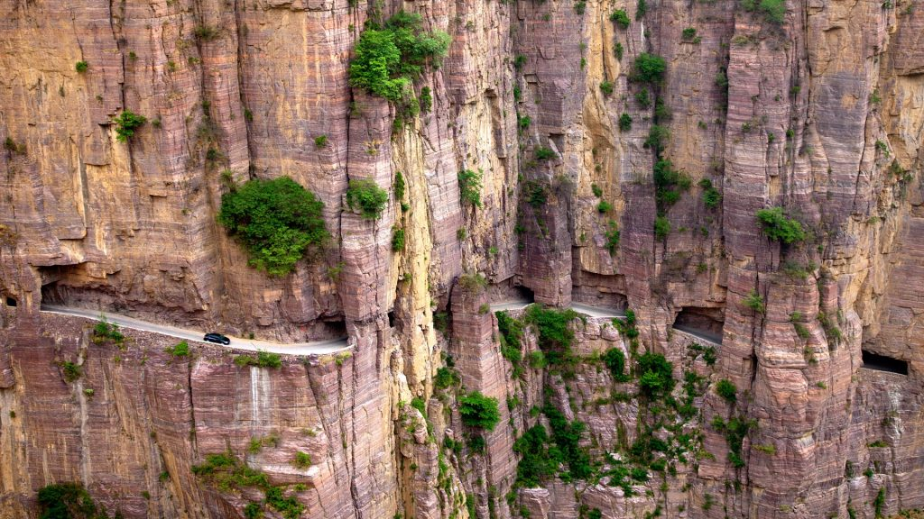 Guoliang Tunnel in Taihang mountains, Shanxi, China