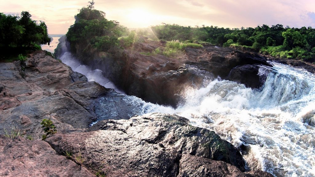 Murchison or Kabalega Falls from the top, Murchison Falls National Park, Uganda
