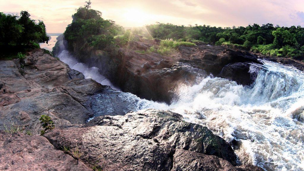 Murchison or Kabalega Falls from the top, Murchison Falls National Park, Uganda