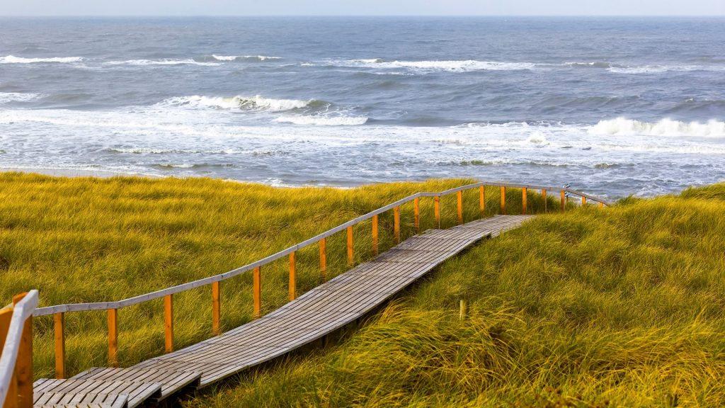 Way to beach, Rantum, Sylt, Schleswig-Holstein, Germany