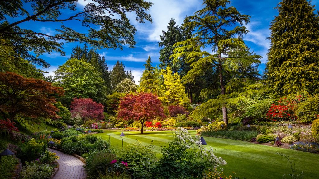 Butchart Gardens in Brentwood Bay near Victoria on Vancouver Island, British Columbia, Canada