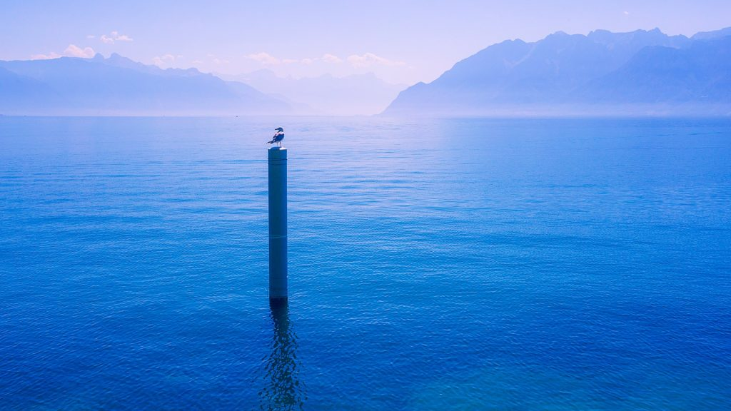 Lac Léman or Lake Geneva, Lutry, Switzerland