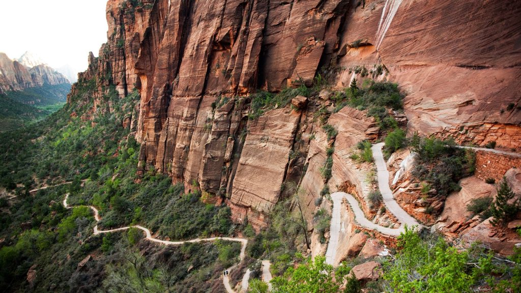 Trail to the head of the Angel's Landing Hike, Zion National Park, Utah, USA