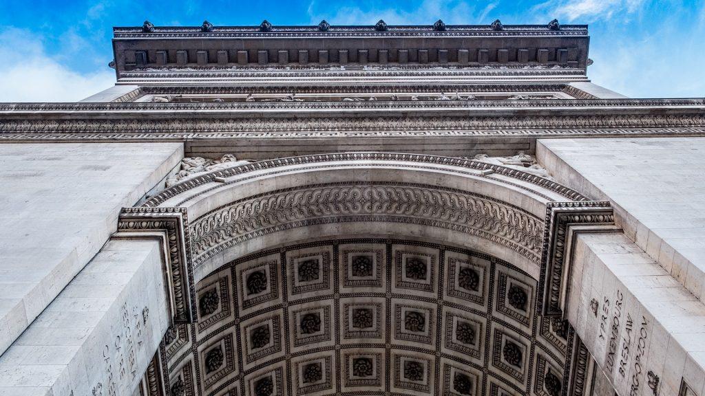 Triumphal Arch of the Star (Arc de Triomphe de l'Étoile), Paris, France