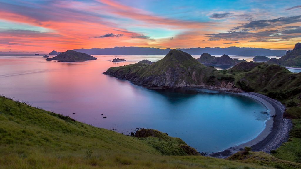 Padar Island sunset, Komodo National Park, near Labuan Bajo, East Nusa Tenggara, Indonesia