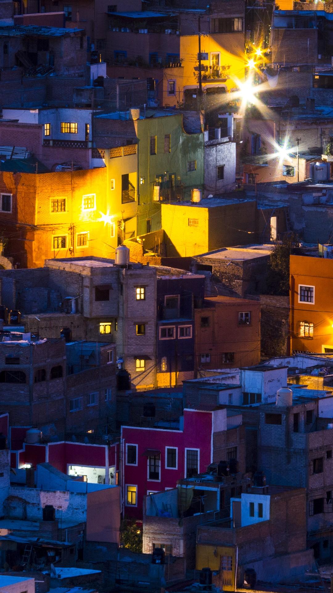 Night Lighting Of The City Of Ganajuanto Mexico Windows
