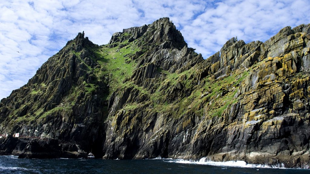 The island of Skellig Michael off the County Kerry coast, Ireland