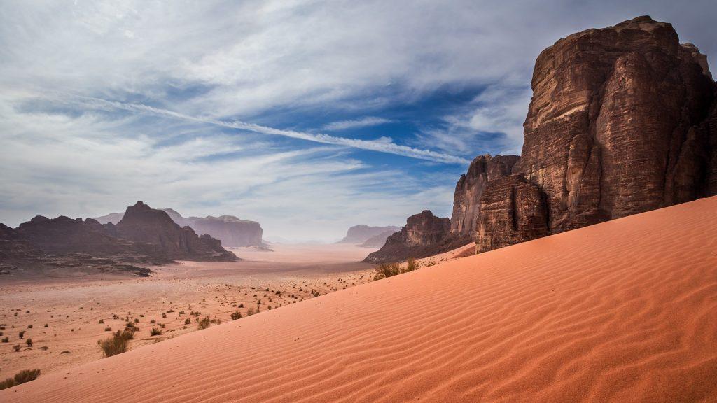 Sand dunes in Wadi Rum desert, Jordan
