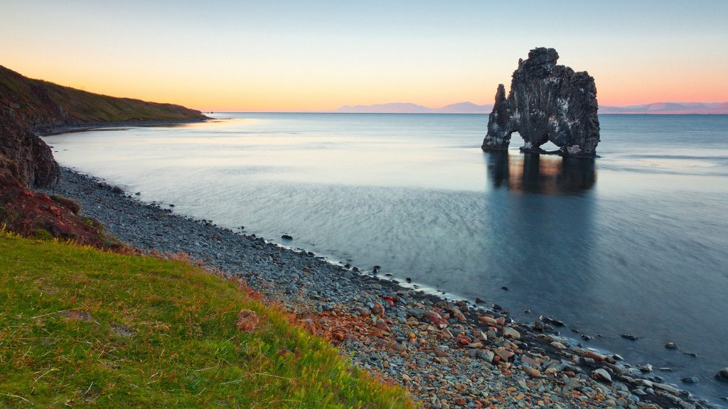 Hvitserkur Rock on Vatnsnes peninsula in Northwest Iceland
