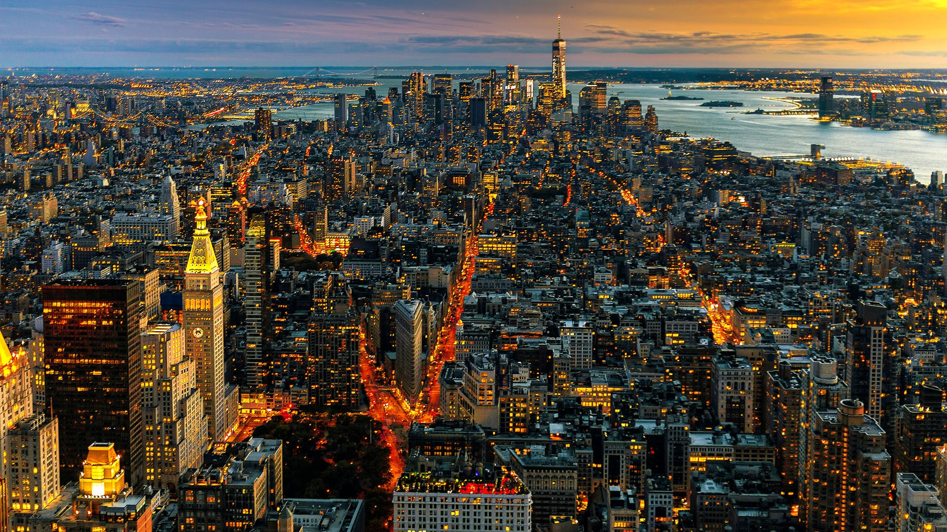 New York S Manhattan Brooklyn And Staten Island Seen During The