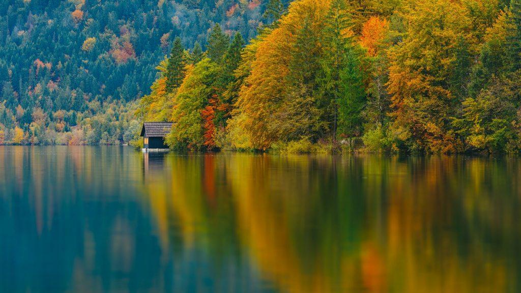 Mountains, forests and lake, Triglav national park, Bohinj lake, Slovenia