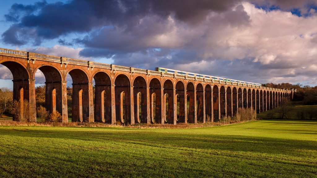 The Ouse Valley Viaduct (Balcombe Viaduct) over the River Ouse in Sussex, England, UK