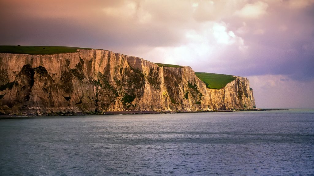 White Cliffs, Strait of Dover, England, UK