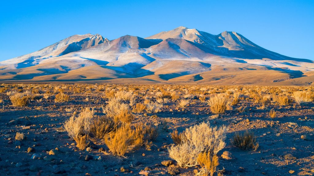 Hills in the Altiplano (High Andean plateau), Los Flamencos National Reserve, Atacama desert, Chile