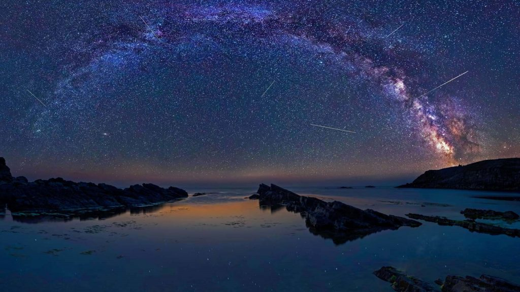 Milky Way during the Perseids flow above the Black sea, Bulgaria