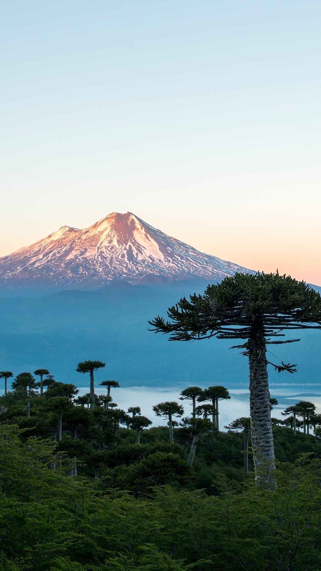beautiful winter mountain scenery