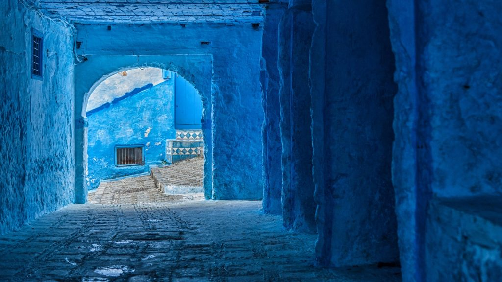The beautiful blue medina of Chefchaouen, Morocco
