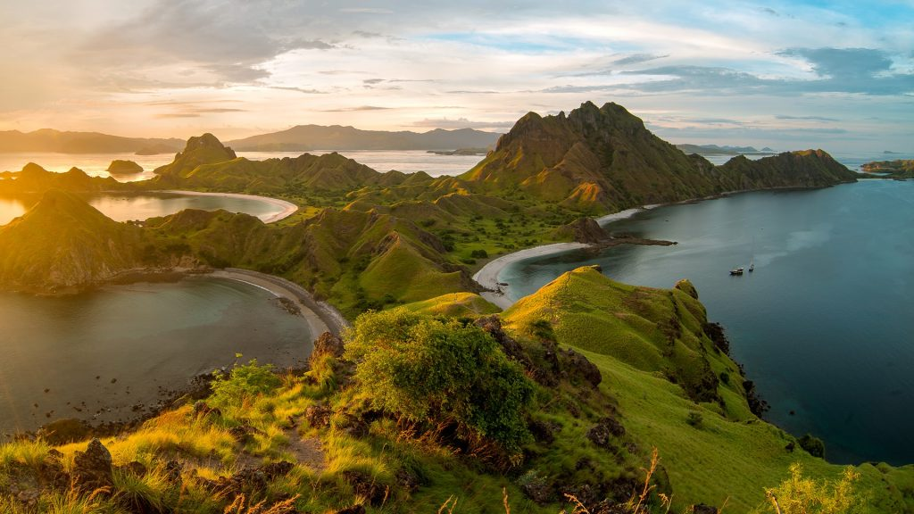 Sunset at Padar Island, Komodo National Park, Labuan Bajo, East Nusa Tenggara, Indonesia