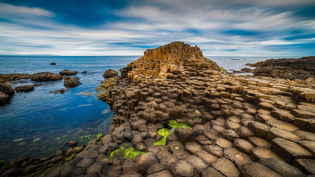 The Giant's Causeway in County Antrim near Bushmills, Northern Ireland, UK
