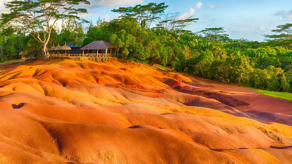 Seven Coloured Earth geological formation in Chamarel, Mauritius