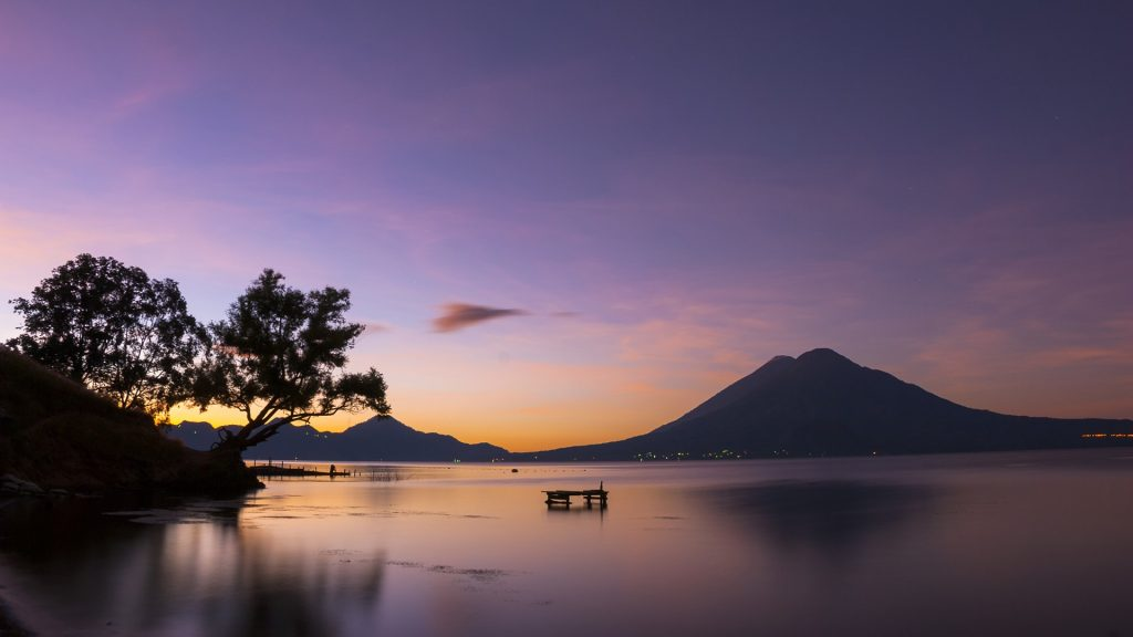 Dawn at Lake Atitlan, Panajachel, Guatemala
