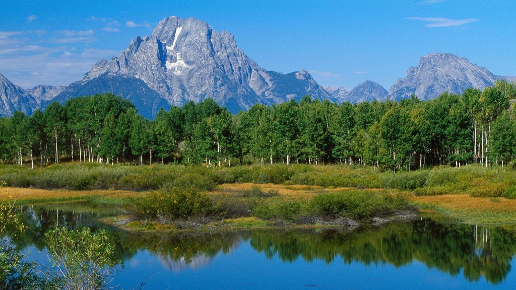The Grand Teton view from the Oxbow Bend, Grand Teton National Park, Wyoming, USA