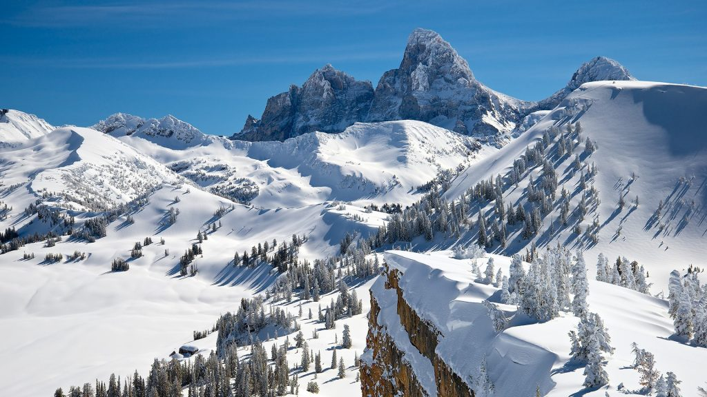 Grand Teton view from Grand Targhee, Alta, Wyoming, USA