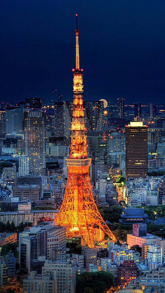 Tokyo Tower And Skyline During Blue Hour Minato Tokyo