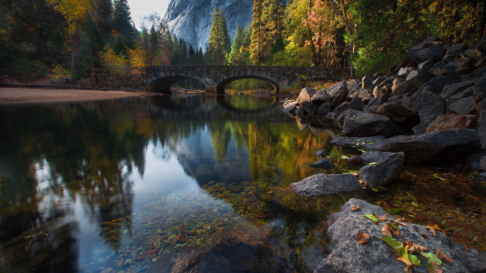 Bridge Over The Merced River In Yosemite National Park