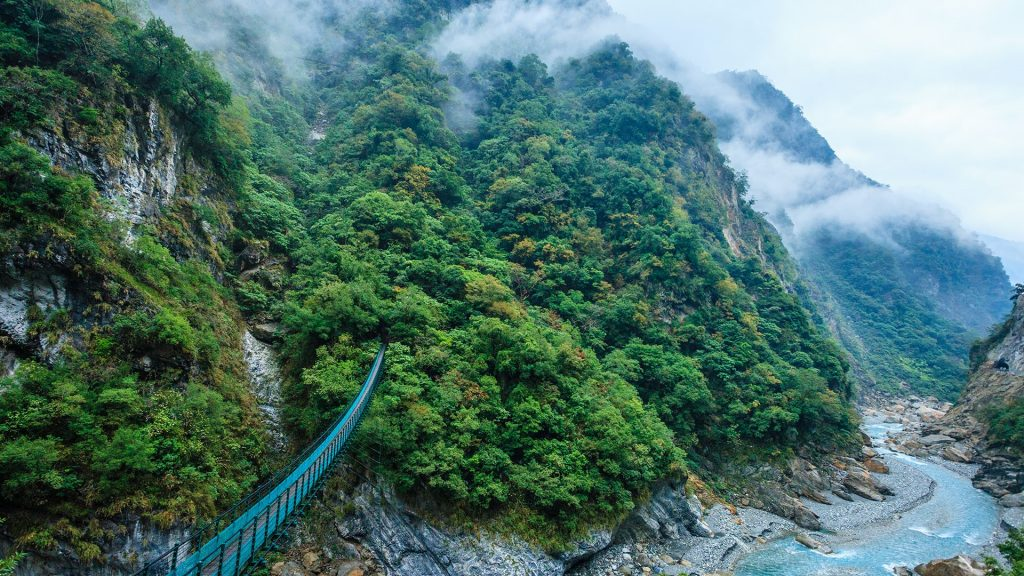 Canyon in Taroko Gorge National Park, Taiwan