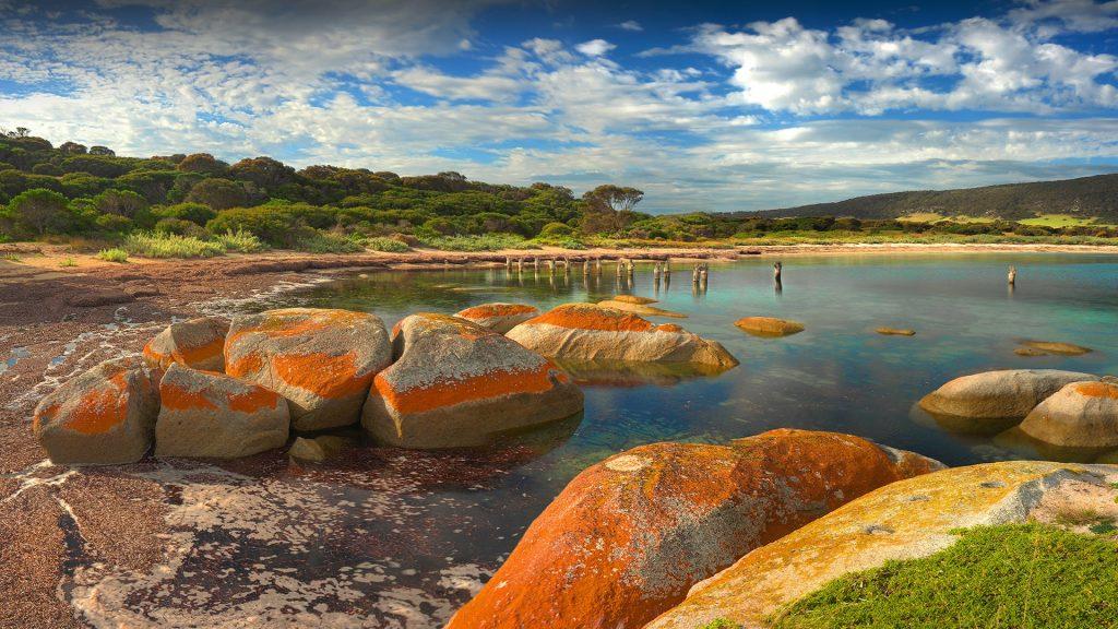 Lillies beach, Wybalena, Flinders Island, Tasmania, Australia