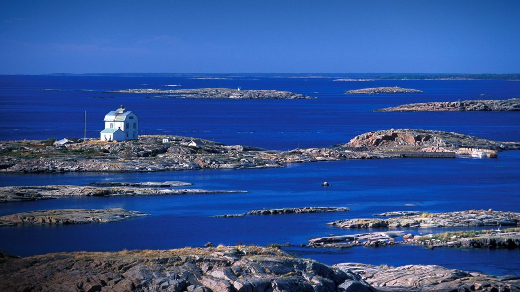 Sea house at Åland island archipelago, Finland
