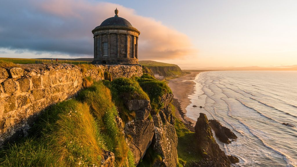 Mussenden temple near Castlerock, County Londonderry, Ulster region, northern Ireland, UK