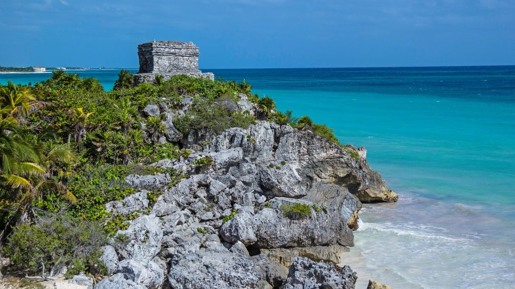 The Tulum ruins in Mayan Riviera, Punta Maroma, Quintana Roo, Mexico