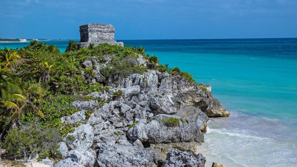 The Tulum ruins in Mayan Riviera, Punta Maroma, Quintana Roo, Mexico